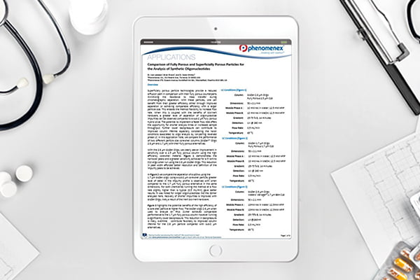 Application note Comparison of fully porous and superficially porous particles