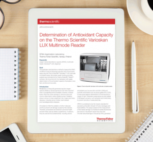 Determination of Antioxidant Capacity on the Thermo Scientific Varioskan LUX Multimode Reader