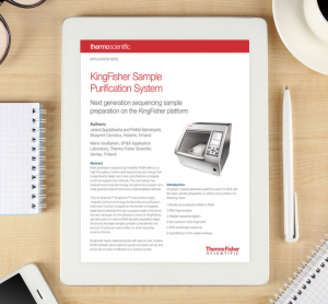Application note: KingFisher sample purification system