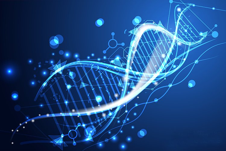 computer graphic of a DNA strand - idea of next-generation sequencing