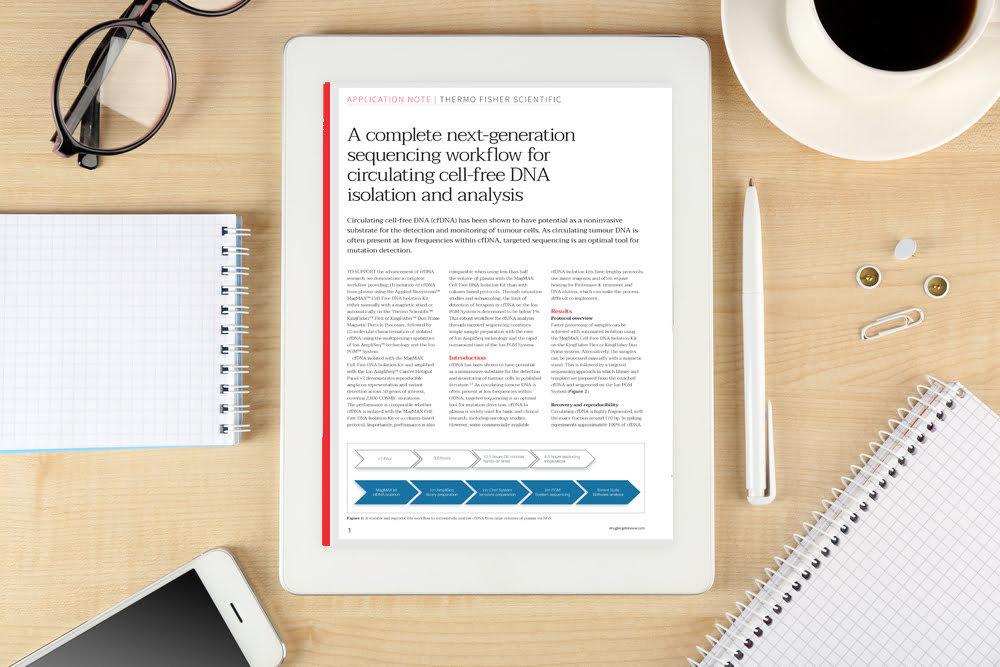 Application note: A complete next-generation sequencing workflow for circulating cell-free DNA isolation and analysis