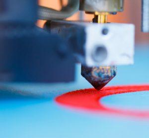3D printing closeup