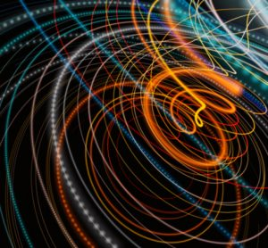 Abstract image of particle fusion