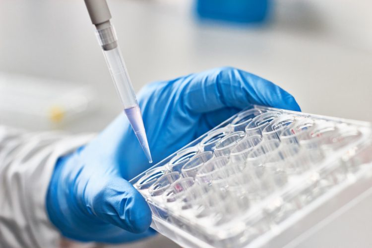 Assays research - pipetting liquid