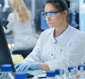 Scientist accessing Protein Portal